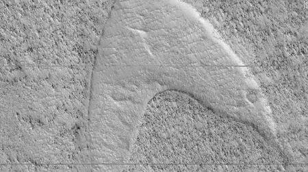 NASA: Βρήκε το σύμβολο του στόλου του Σταρ Τρεκ στον Άρη | Pagenews.gr