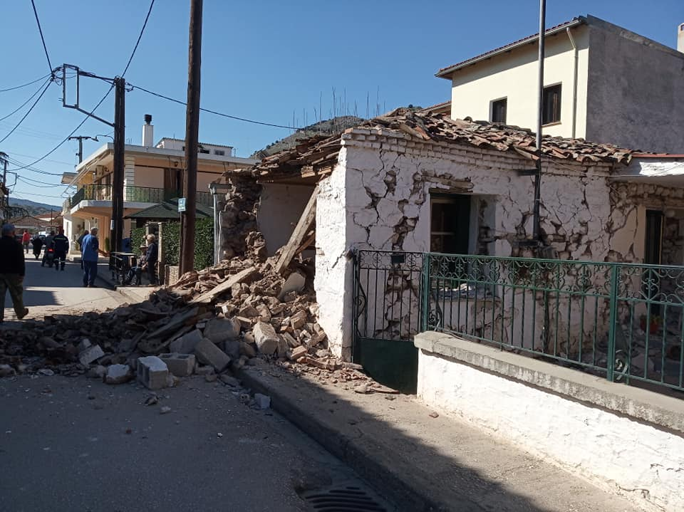 Σεισμός στην Ελασσόνα: Φωτογραφία από το Δαμάσι