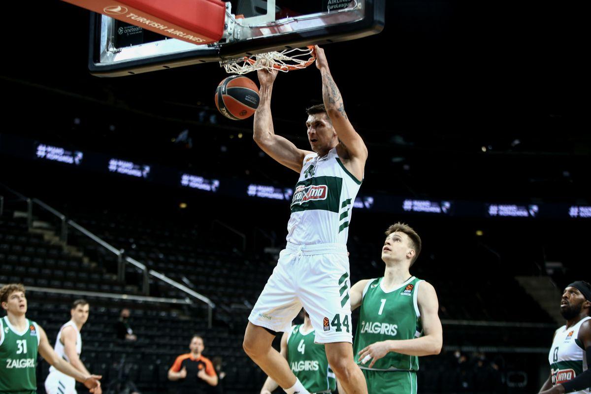 Ζαλγκίρις Κάουνας - Παναθηναϊκός: 93-78