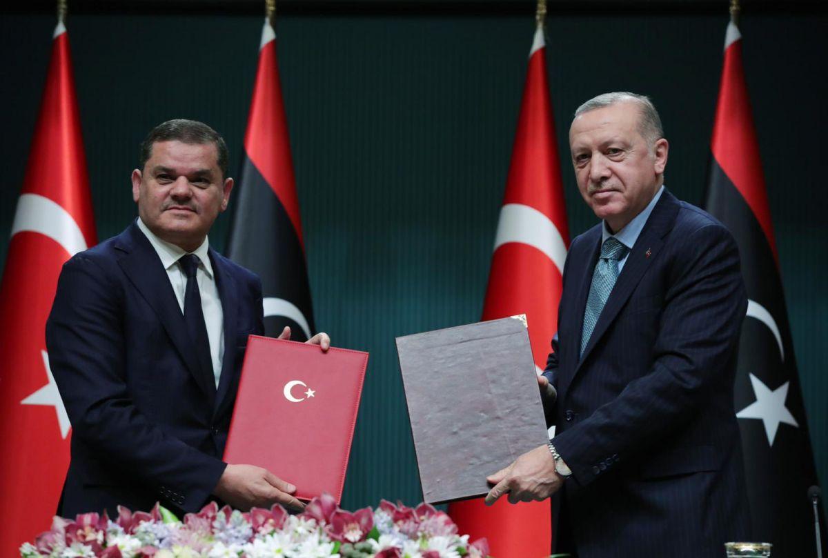 Τουρκολιβυκό μνημόνιο: Οι δηλώσεις Ερντογάν - Ντμέιμπα