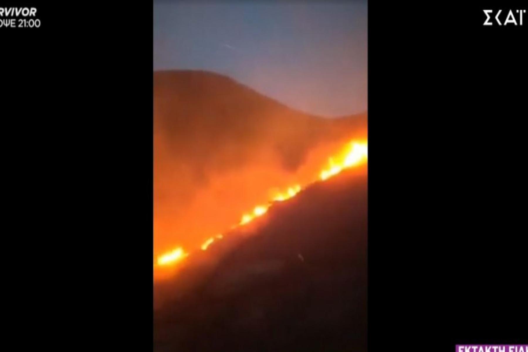 φωτιά στην Άνδρο