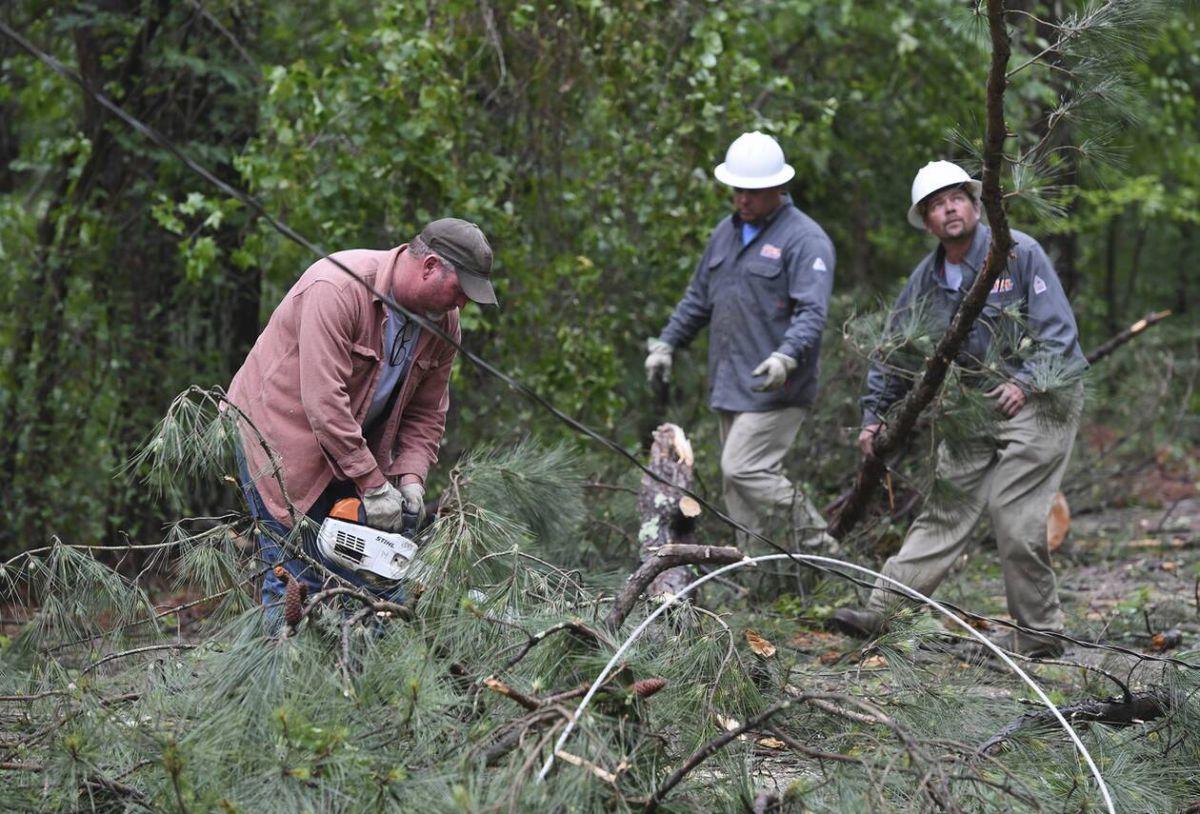 ΗΠΑ ανεμοστρόβιλοι: Πολλά είναι τα δέντρα που έχουν πέσει