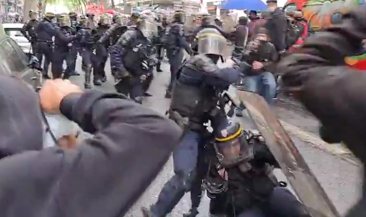 Γαλλία Εργατική Πρωτομαγιά: Σκληρές συγκρούσεις με την Αστυνομία